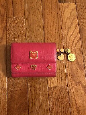 Authentic MCM Leather Pink Small Wallet