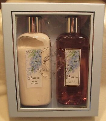 CRABTREE & EVELYN Vintage Wisteria Body Lotion/Bath Shower Gel Combo OPENED NEW