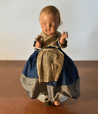 """Antique Paranormal Scary Creepy Haunted Looking 13"""" Composite Doll"""