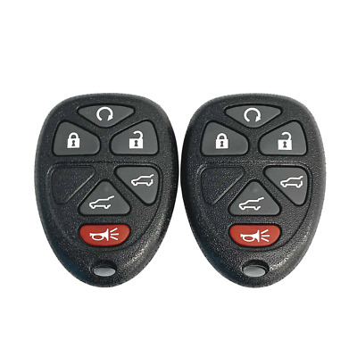2 New Replacement Keyless Entry Remote Key Fobs 6 Button OUC60270 15913427