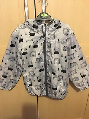 Bnwt Next Girls Raincoat Anorak Jacket 5-6 Cute