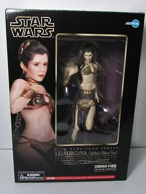 Star Wars Princess Leia Jabba's Slave Artfx Kotobukiya 1/7 Scale Model Kit Nib
