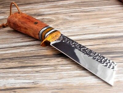 Handmade Tactical Hunting Survival Fixed 9CR18MOV Blade Knife, Rosewood Handle