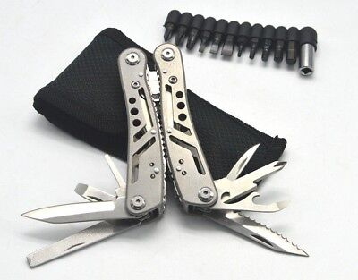 Multifunctional Survival Outdoor EDC Tool Pliers Folding Knife Screw Driver Saw