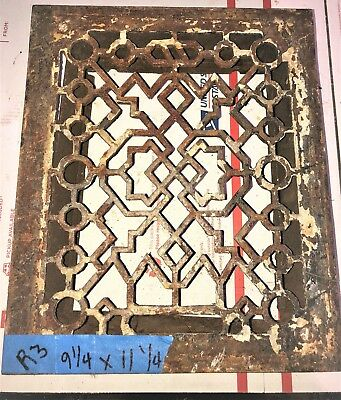Square Cast Iron wall Floor Register Heat Grate antique vintage   #r3