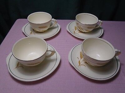Edwin Knowles Golden Wheat Cup Saucer (4)  1940  (2 sets of 4 avail.)