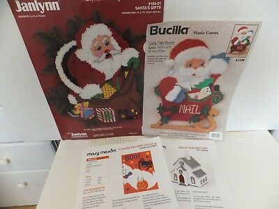 Assorted Plastic Canvas Kits Topper / Halloween / Christmas / Santa / Church