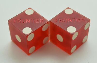 Casino Dice - Frontier Hotel Pair Used Matched Dice Las Vegas Nv Free Shipping *