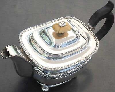 Old Sheffield Plate Tea Pot - Antique C. 1820 - Silver Plated
