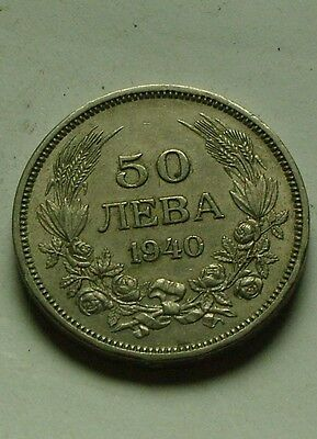 50 Leva King Boris III Original coin Bulgarian Kingdom 1940 world Europe