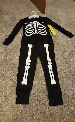 bcd041808cb4 City Streets JCPenney size 6 skeleton two piece pajama set top bottom  leggings