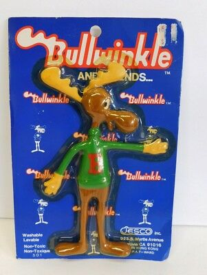 Vintage Bullwinkle Rubber Action Figure Jesco 1980's 501 NOS
