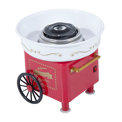 HOMCOM Electric Instant Candy Floss Maker Cotton Candy Machine DIY Household Red