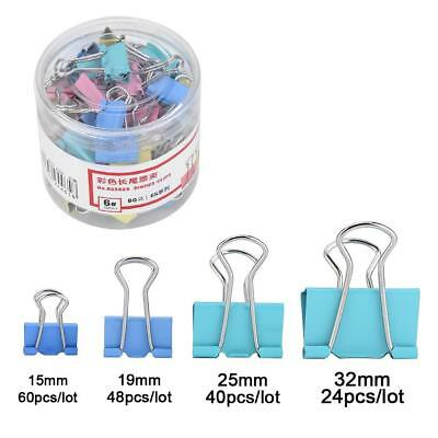60Pcs Metal Binder Clips File Paper Clip Photo Stationary Office School Supplies