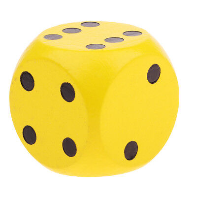 Big Outdoor Camping Wood Dice 6 Sided Dice Family Activity Party Dice Yellow