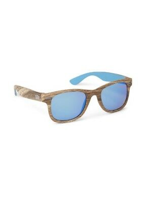 Gap Baby Girl / Boy Sunglasses Sun Glasses Square Wood Natural Blue One Size NWT