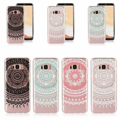 For Samsung Galaxy S9/S6/S7/S8/Plus/Note8 Case Mandala Clear Soft 3D Print COVER