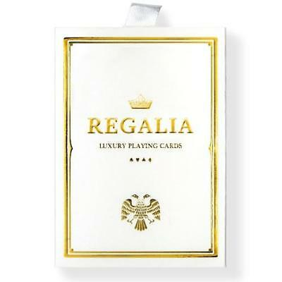 White Regalia Playing Cards Gold Foil Luxury 2nd Edition Limited Release