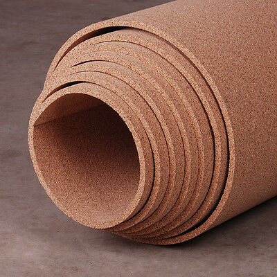 3 Rolls 1.1mm Thick Craft Cork Roll Sheet 20 x 100 cm cheap DIY Class Kids Room