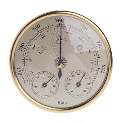 130mm Wall Mounted Barometer Thermometer Hygrometer Weather Station Hanging 3in1