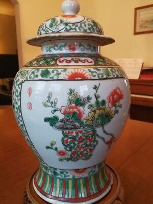 A Large Chinese Qing Dynasty Famille Rose Porcelain Figure Vase