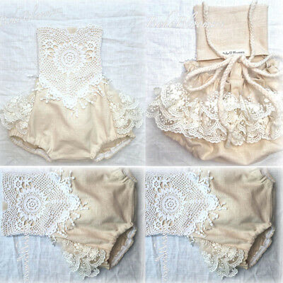 AU Newborn Baby Kid Girl Clothing Lace Romper Bodysuit Jumpsuit Outfit Clothes