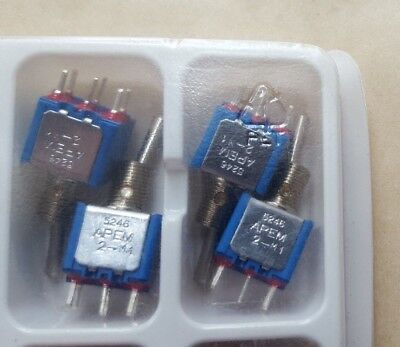 LOT OF 4 APEM 5246AB Toggle Switchs (U3.2B4)