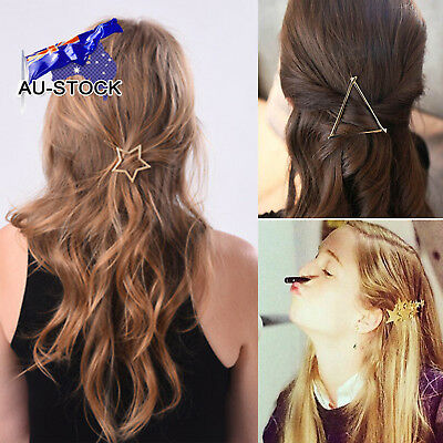 Woman Girl Triangle Hair Clip Pin Alloy Geometric Barrette Party Hair Accessory