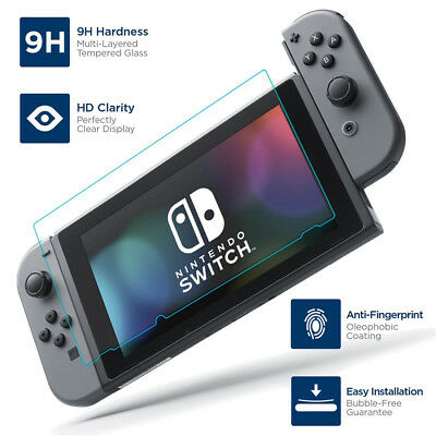 9H 2.5D Premium Tempered Glass Screen Protector for Nintendo Switch Console RN