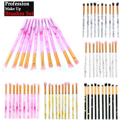 Pro 10PC Eye Shadow Eyeliner Foundation Blush Lip Makeup Brush Cosmetics Brushes