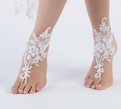 2018 Lace footwear Wedding Anklet Beach Foot Chain Barefoot Sandal Bridal Stock