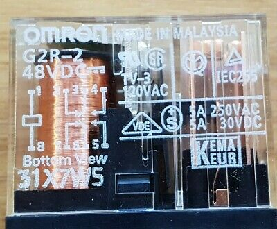 3 Pcs Of Omron G2R2-48Vdc Relay (U3.3B3)