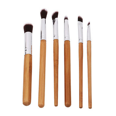 6pcs Bamboo Handle Foundation Blending Makeup Brushes LG
