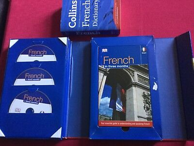 DK French Language Course and Collins dictionary. HOME SCHOOL.Etc