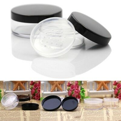30g/50g Empty Loose Powder Pot With Sieve Cosmetic Jar Container for Travel
