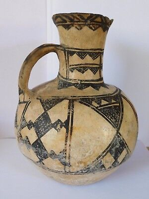 Super !! EARLY ANTIQUE NATIVE AMERICAN INDIAN POTTERY JUG HAND PAINTED
