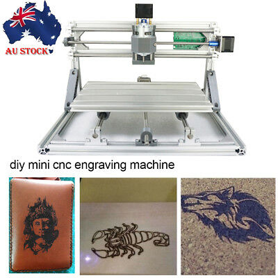 DIY Mini 3 Axis CNC Wood Engraving Carving PCB Milling Machine Router Engraver