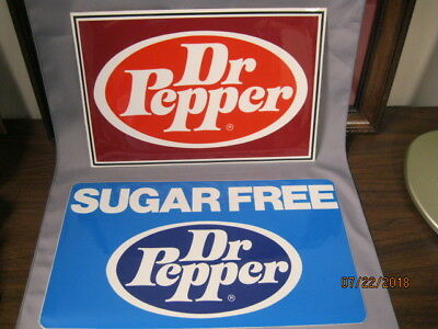 Dr Pepper  (Two) Decals From The 1970's  Regular And Sugar Free