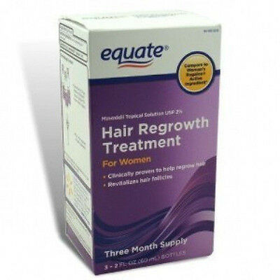 Equate Hair Regrowth Treatment for Women Minoxidil 2% Extra Strength, 3 Month