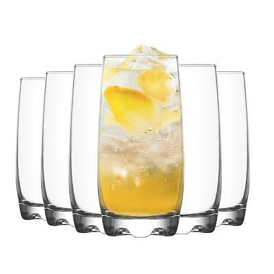 LAV Adora Highball Cocktail Glasses - 390ml - Pack of 6 High Ball Glass Set