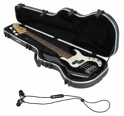 SKB 1SKB-FB-4 Precision Electric Bass Guitar Hard Case+Free Bluetooth EarBuds