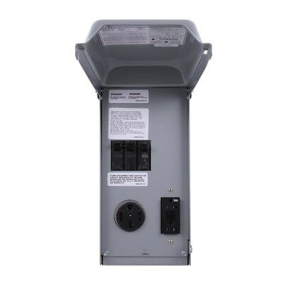 Unmetered RV Outlet Box with 70 Amp 2-Space 2-Circuit 240-Volt GCFI Protected