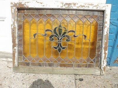 Antique American Stained Glass Window,Circa 1900