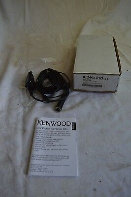 New Kenwood Otto Khs 12Bl 3 Wire Lapel Microphone Mic Kit Black Earpiece Police