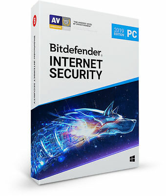 Bitdefender Internet Security 2019 ( 1 Pc mit VPN ) 365 Tage Windows-PC