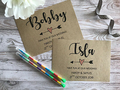 Personalised Childrens Wedding Activity Pack VINTAGE LACE Book Bag Gift Heart