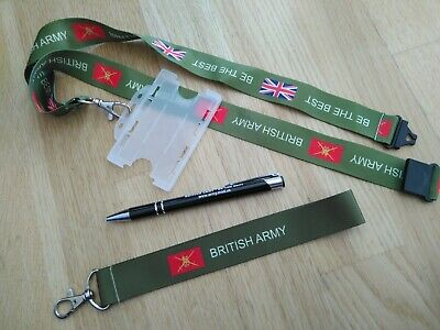 british army lanyard +IDholder military keyring soldier gift armed forces badge