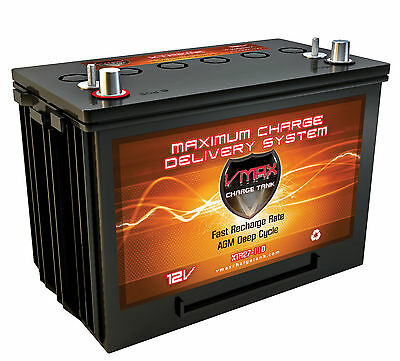 BC1204 3.3A CHARGER VMAX V30-800 CASE 12V 30Ah AGM SOLAR BATTERY FOR CAMPING