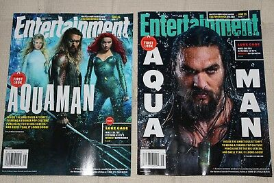 Entertainment Weekly - Two (2) different Aquaman covers - Jason Momoa - NO LABEL