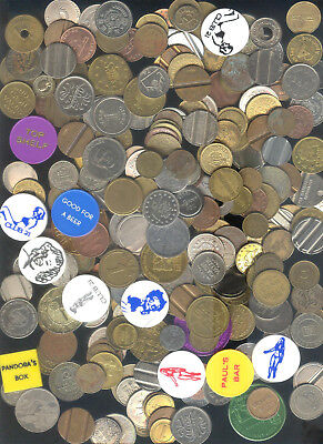 5 lbs Mixed Medals,Tokens, Transit, Clubs, Amusement, ETC.